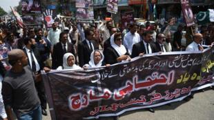 巴基斯坦抗议缅甸镇压罗兴亚穆斯林2017年9月13日卡拉奇