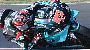 Don't call me while I'm cornering, said Fabio Quartararo when asked about plans for in-race radio