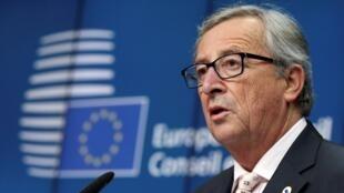 Le président de la Commission européenne, Jean-Claude Juncker, en conférence de presse à Bruxelles, le 18 décembre 2014.
