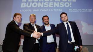 El líder de extrema derecha y hombre fuerte del gobierno italiano Matteo Salvini lanzó este lunes en Milán un llamamiento para crear una alianza de los nacionalistas juno a los líderes nacionalista de Finlandia, Alemania y Dinamarca.