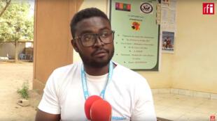 Mohamed Boureima Adamou, étudiant à l'Institut Supérieur de l'Image et du Son (IRIS) à Ouagadougou.