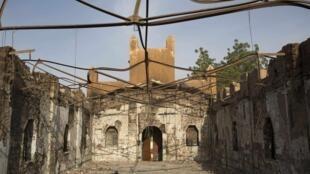 La capitale Niamey a aussi connu des violences la semaine dernière. Ici, une église évangélique ravagée par un incendie.