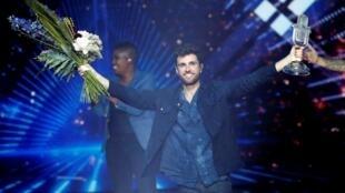 Le chanteur néerlandais Duncan Laurence gagnant de la finale de l'Eurovision, à Tel-Aviv samedi 18 mai 2019.
