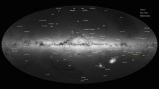 Mapa divulgado pela Agência Espacial Europeia em 14 de setembro de 2016.