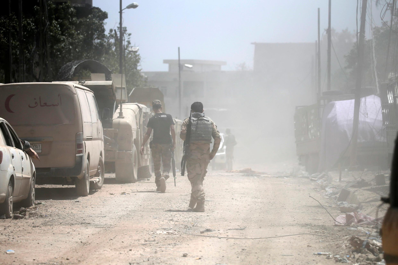 Иракские военные в Мосуле, 17 июля 2017 г.