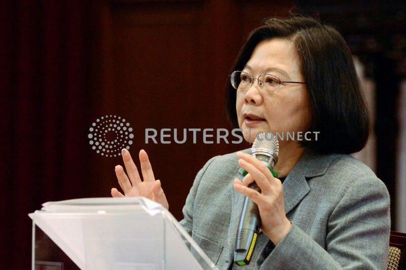 Taiwan's President Tsai Ing-wen speaks during a news conference in Taipei, Taiwan January 5, 2019.