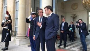 سفر رافائل گروسی ، مدیر کل آژانس بینالمللی انرژی اتمی به پاریس، برای ملاقات با امانوئل ماکرون رئیس جمهوری فرانسه. سهشنبه ١٣ اسفند/ ٣ مارس ٢٠٢٠