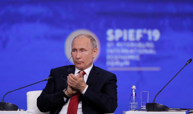 Президент России Владимир Путин на ПМЭФ, 7 июня 2019
