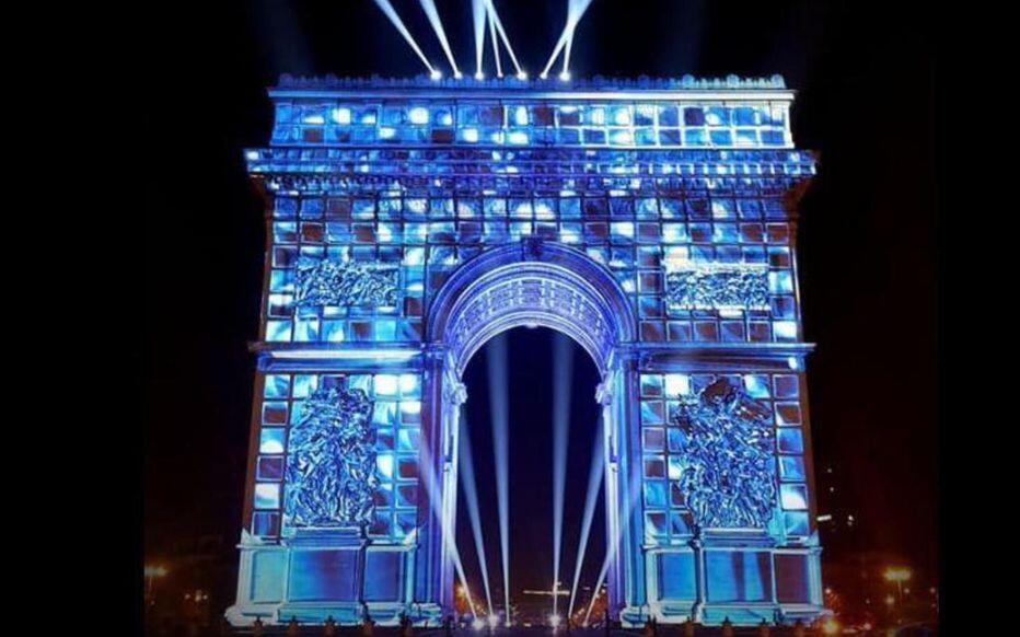 辭舊迎新,巴黎凱旋門將上演一場大型聲光秀和煙花表演              2019年12月31日