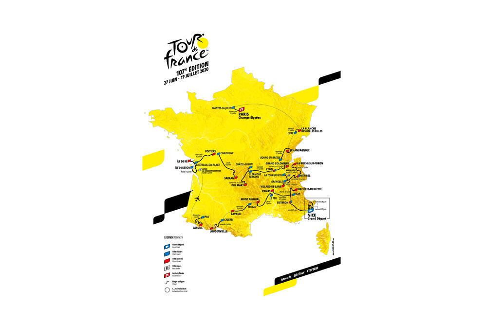 Le parcours du Tour de France 2020.
