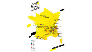 El recorrido del Tour de Francia 2020.