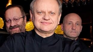 Joel Robuchon and two of his chefs