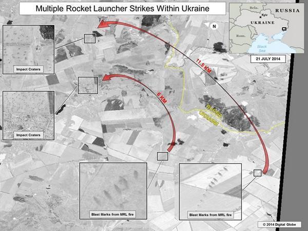 Обстрел украинских войск с территории, контролируемой повстанцами на юго-востоке Украины