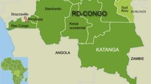 La province du Katanga, dans le sud de la RDC, doit être redécoupée en quatre territoires.