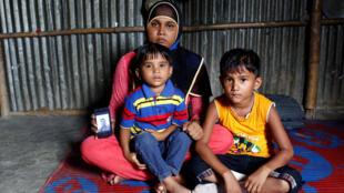 Người Rohingya Miến Điện tại một trại tị nạn ở Bangladesh. Ảnh ngày 9/07/2017.