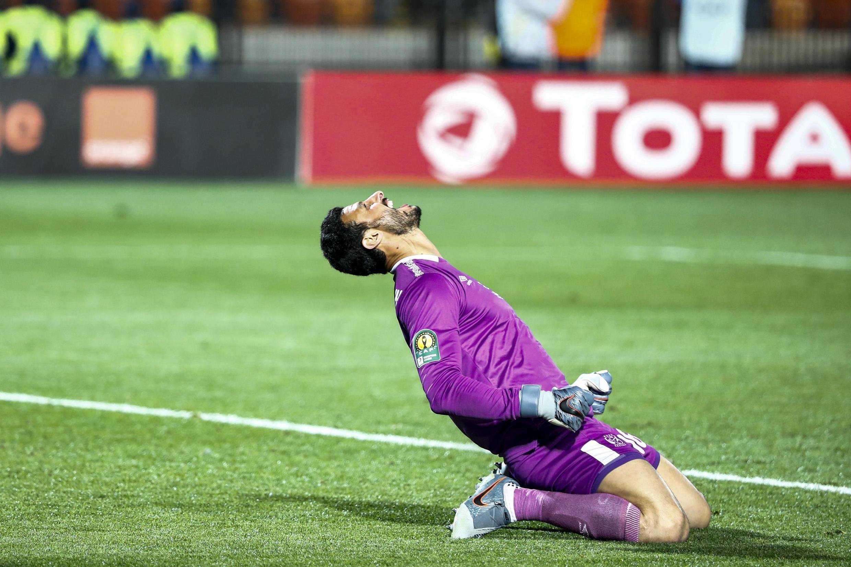 Le gardien du Al Ahly, Mohamed el-Shenawy, après le match aller des quarts de finale de la Ligue des champions de la CAF, au Caire, le 29 février 2020.