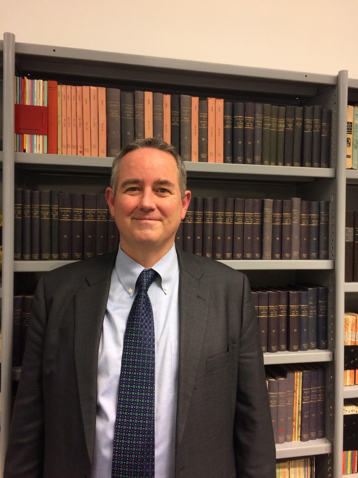Jeffrey Hawkins à la bibliothèque américaine de Paris.