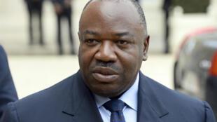 Le président du Gabon, Ali Bongo, lors d'une visite à l'Elysée, le 8 avril 2014.