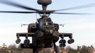 Les hélicoptères britanniques «Apache» ont détruit un poste de contrôle libyen, ce samedi 4 juin.