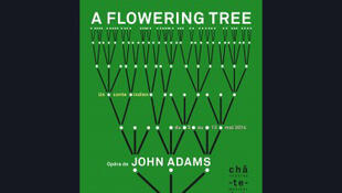 L'affiche de l'opéra <i>A Flowering Tree – Un arbre en fleurs –, </i>de John Adams, au Théâtre du Châtelet à Paris.