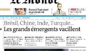 Manchete do jornal Le Monde foi, mais uma vez, sobre os protestos no Brasil.