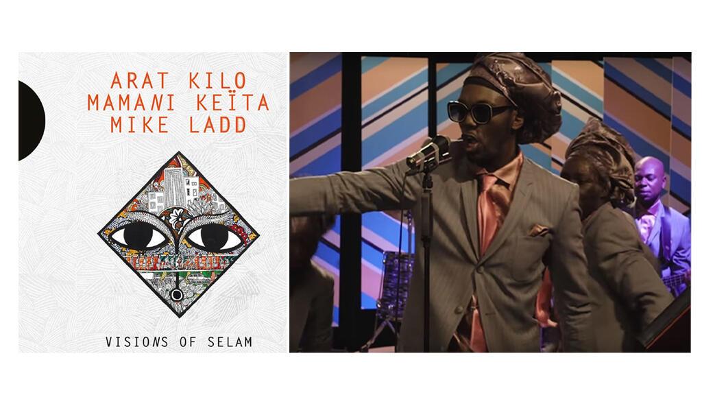 """Pochette Arat Kilo """"Visions of Selam"""" et extrait de la vidéo Soleil de Volt, Baloji."""