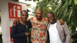 Claudy Siar, Singuila et Brice Albin.