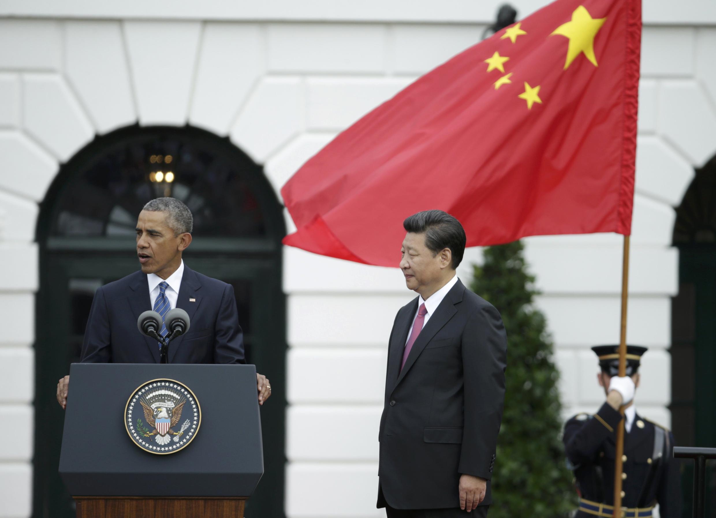 2015年9月25日,美國總統奧巴馬在白宮歡迎到訪的中國國家主席習近平。