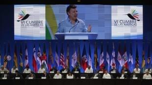 Juan Manuel Santos inauguró este sábado en cartagena la Cumbre de las Américas.