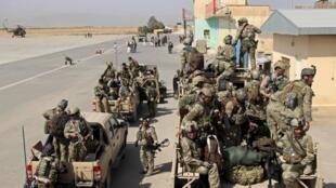 Les forces spéciales afghanes à Kunduz, le 29 septembre 2015.