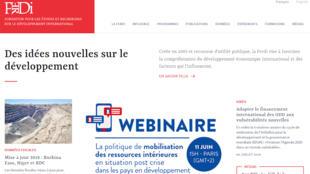 Capture d'écran du site de la Ferdi.