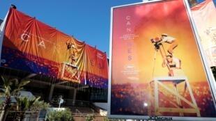 Áp-phích Liên hoan phim Cannes lần thứ 72, Pháp. (Ảnh chụp ngày 12/05/2019)