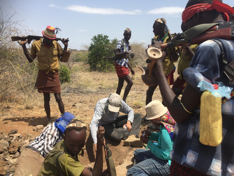 Une équipe de paléontologues, d'archéologues et de géologues de l'Omo Group Research Expedition, en Ethiopie.