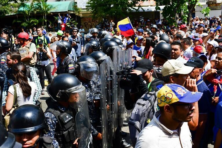 Manifestação na Venezuela.
