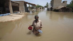 A Pakistani flood-victim