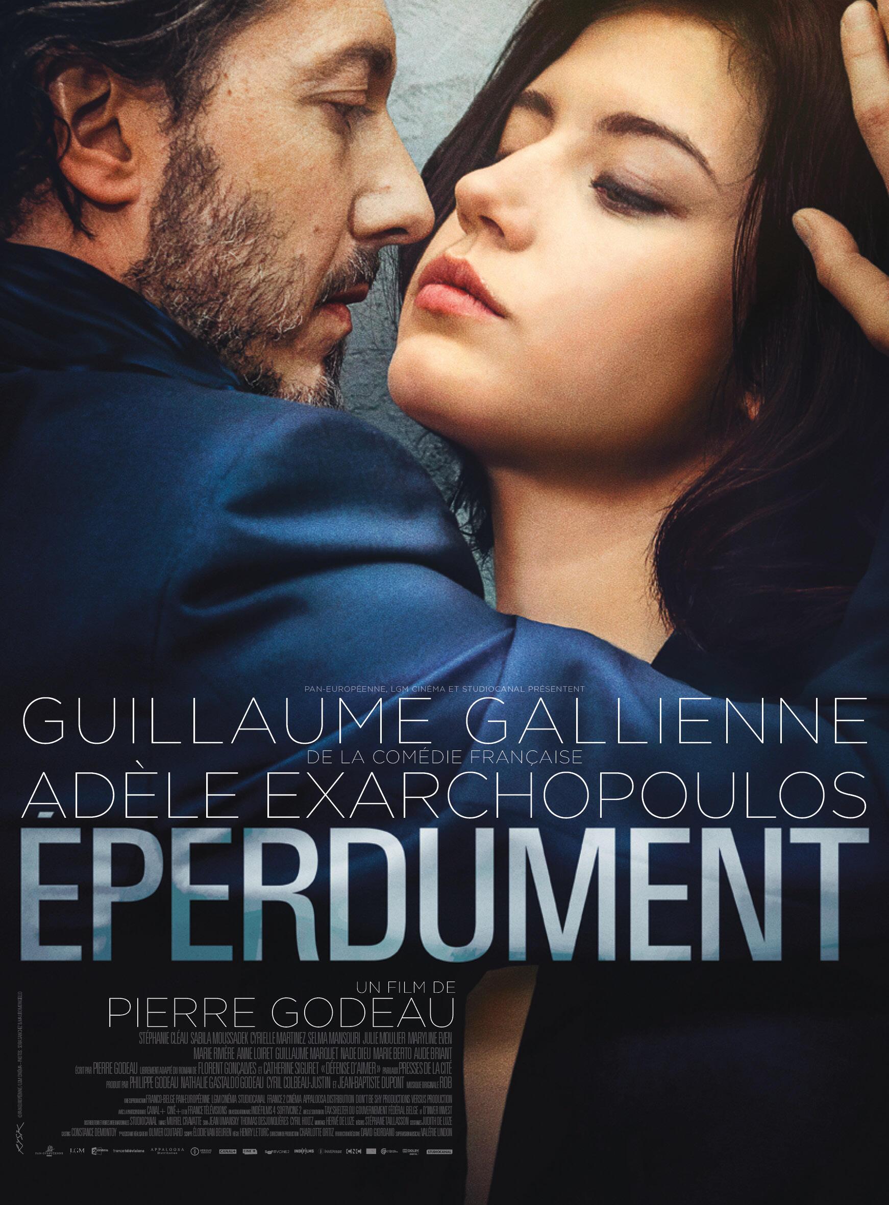 Détail de l'affiche du film «Eperdument», de Pierre Godeau avec Adèle Exarchopoulos et Guillaume Gallienne.