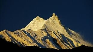 Last chance to see: Manaslu mountain in the Himalyas could lose its snow to global warming.
