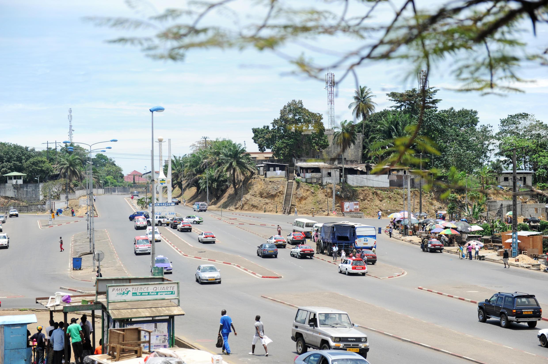 Une rue de Libreville.