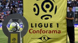 Campeonato francês, a Ligue 1. Imagem de Ilustração.