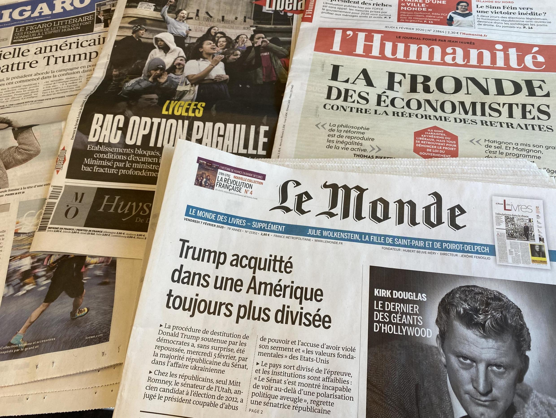 Jornais franceses de 06/02/2020.
