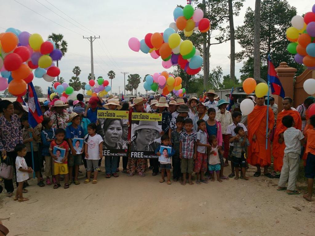 Dân Cam Bốt biểu tình đòi trả tự do cho những người chống tịch thu đất đai - RFI @Vann Sokunthea