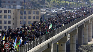 Algerians rally in the northern town of Kherrata to demand sweeping political reforms