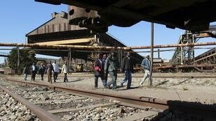 Site industriel de la compagnie ZISCO (sidérurgie), à 232 km de Harare, le 3 août 2011.
