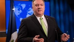 El secretario de Estado norteamericano, Mike Pompeo, el 20 de mayo de 2020 en Washington