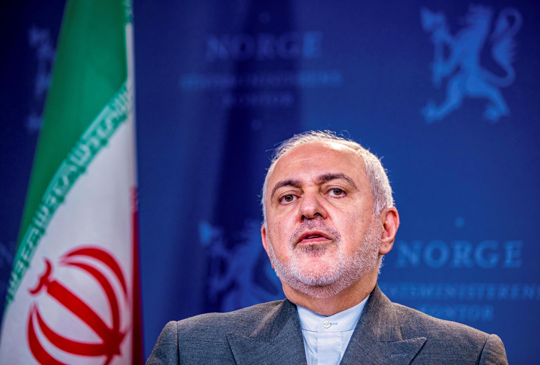 Ngoại trưởng Iran Javad Zarif họp báo với đồng nhiệm Na Uy tại Oslo, Na Uy, ngày 22/08/2019 trước khi sang Paris.