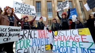 Manifestación en París para pedir el indulto presidencial a Jacqueline Sauvage, el 10 de diciembre de 2016.