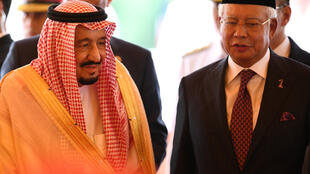 Le roi Salman d'Arabie saoudite et le Premier ministre malaisien Najib Razak, à Kuala Lumpur, le 26 février 2017.