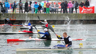Athletes compete on an Olympic-standard regatta course at Saint Laurent Blagny in Pas de Calais
