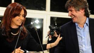 Cristina Fernández y Amado Boudou, el 25 de junio de 2011.