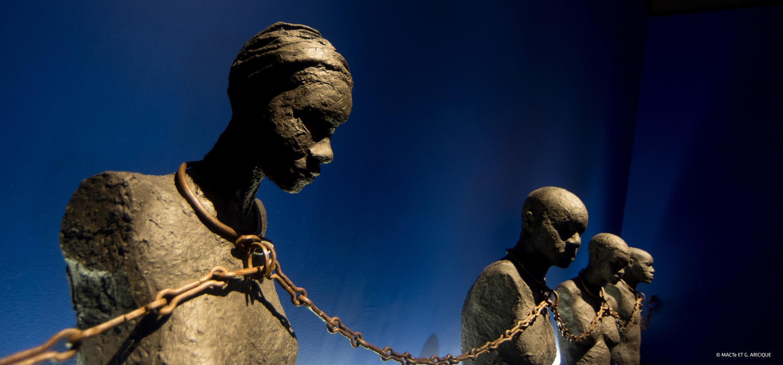 En el Memorial ACTe, o Centro Caribeño de Expresiones y  Memoria de la Trata y la Esclavitud, en Pointe-à-Pitre, Guadalupe.